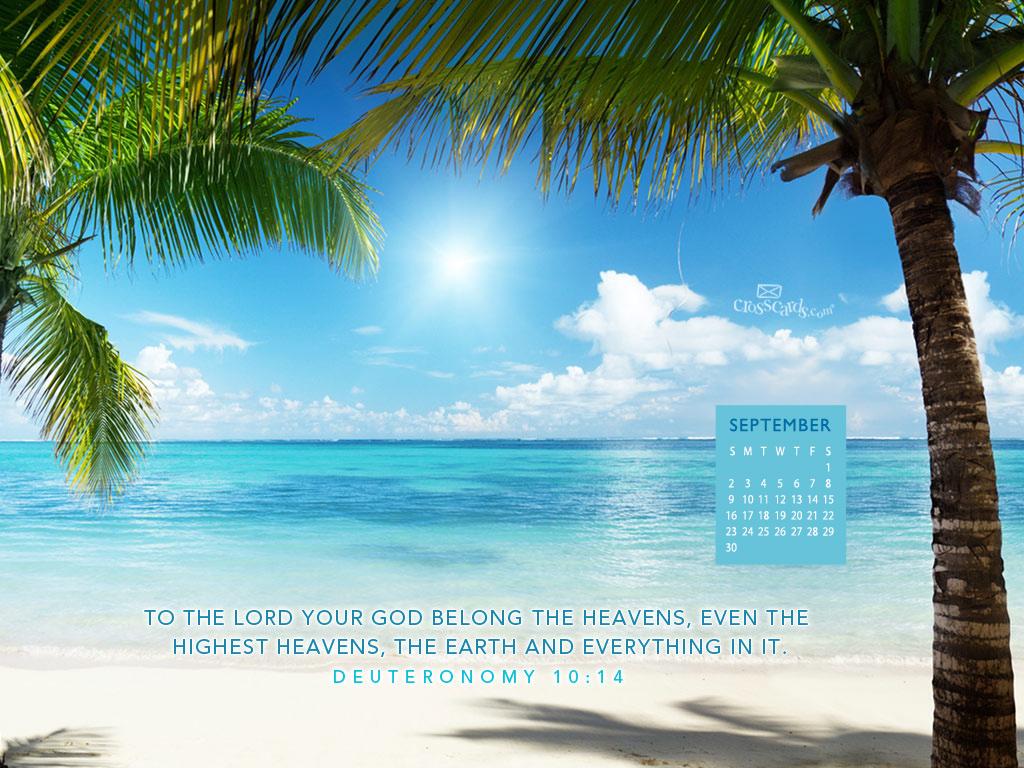 Sept 2012   Heavens Desktop Calendar  Monthly Calendars 1024x768