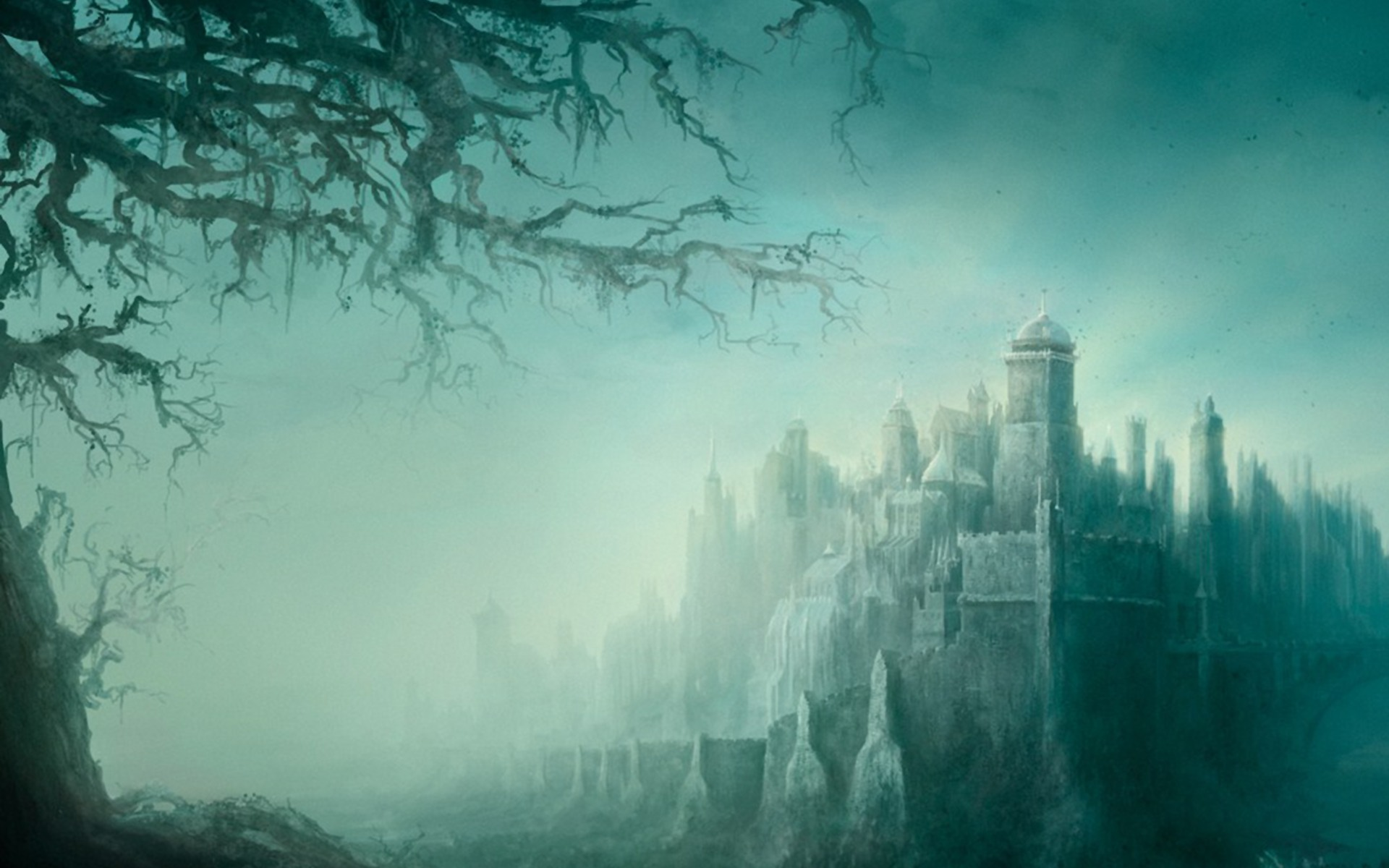 Dark Fantasy Fortress desktop wallpaper 1920x1200