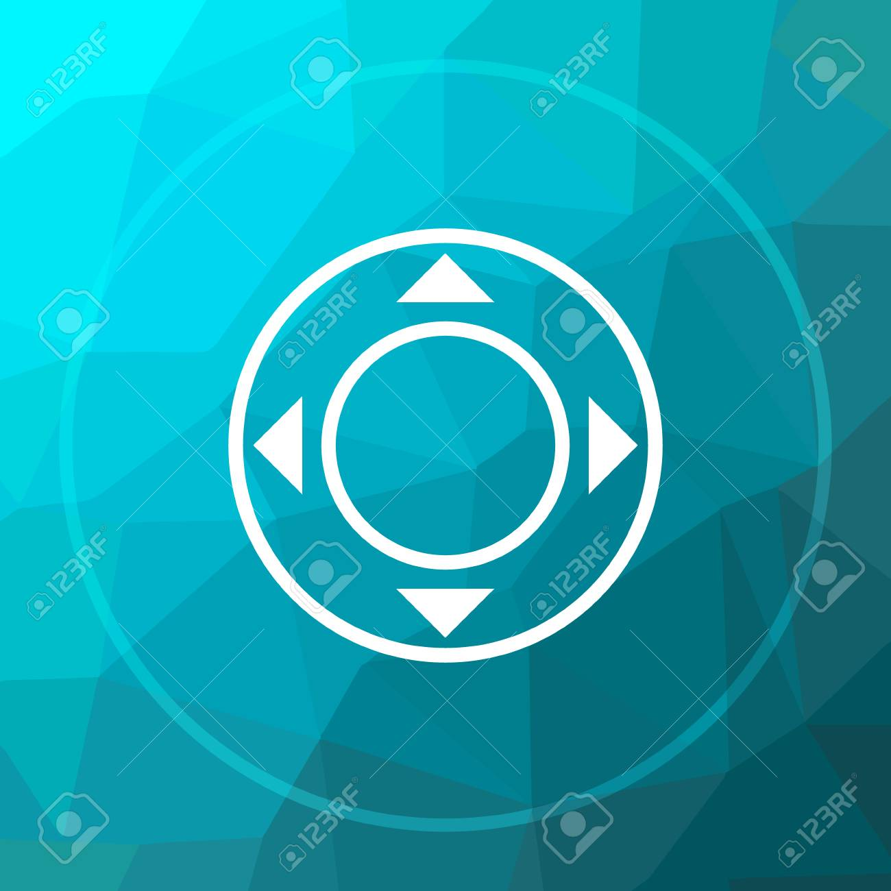 Joystick Icon Joystick Website Button On Blue Low Poly Background 1300x1300