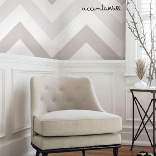 Chevron Warm Grey Peel and Stick Fabric Wallpaper   2ft x 4ft sheet 500x500