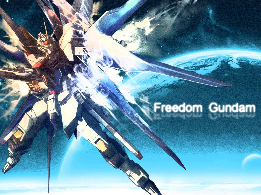 Freedom Gundam Nu Gundam Gundam Mg Strike Freedom Gundam Full Burst 1024x768