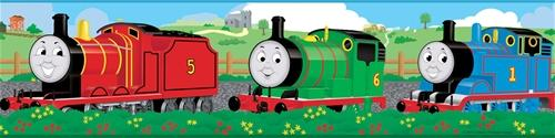 Details about THOMAS the TRAIN WALL BORDER Wallpaper Removable Decor 500x125