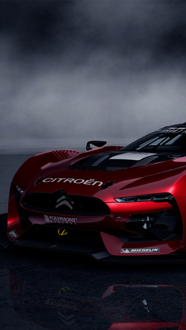 Red Citroen Racing Car Wallpaper IPhone Wallpapers 640x1136