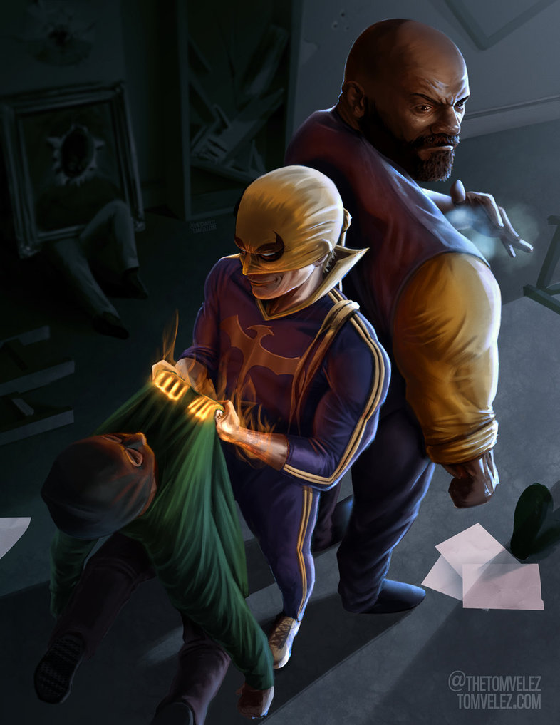 Iron Fist Luke Cage Heroes for Hire by punktx30 on 786x1017