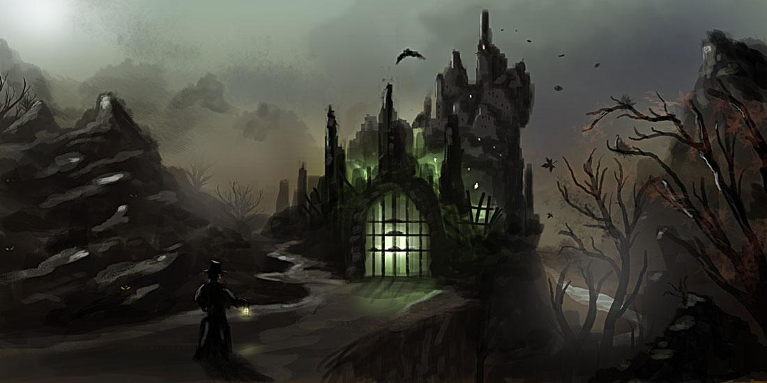 Dracula Castle Wallpaper 1100x550