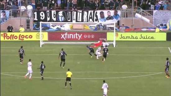 San Jose Earthquakes 3 2 Los Angeles Galaxy highlights San Jose 550x309