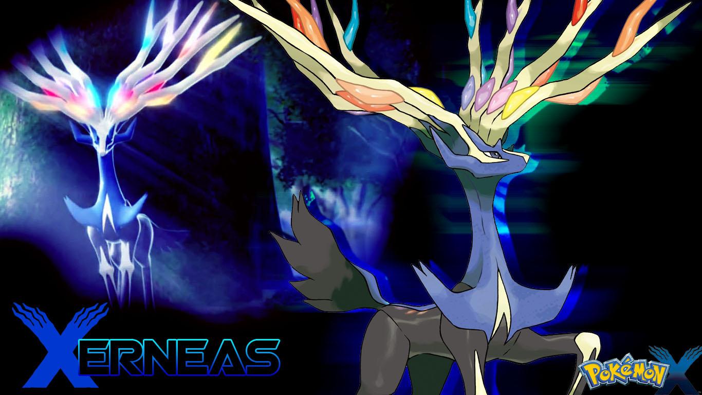 xerneas wallpaper pokemon x by piplupwater fan art wallpaper games 1366x768