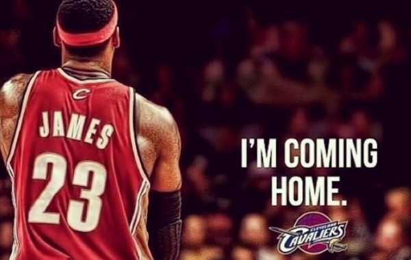 LeBron James is coming back to the Cavaliers but which jersey number 600x379