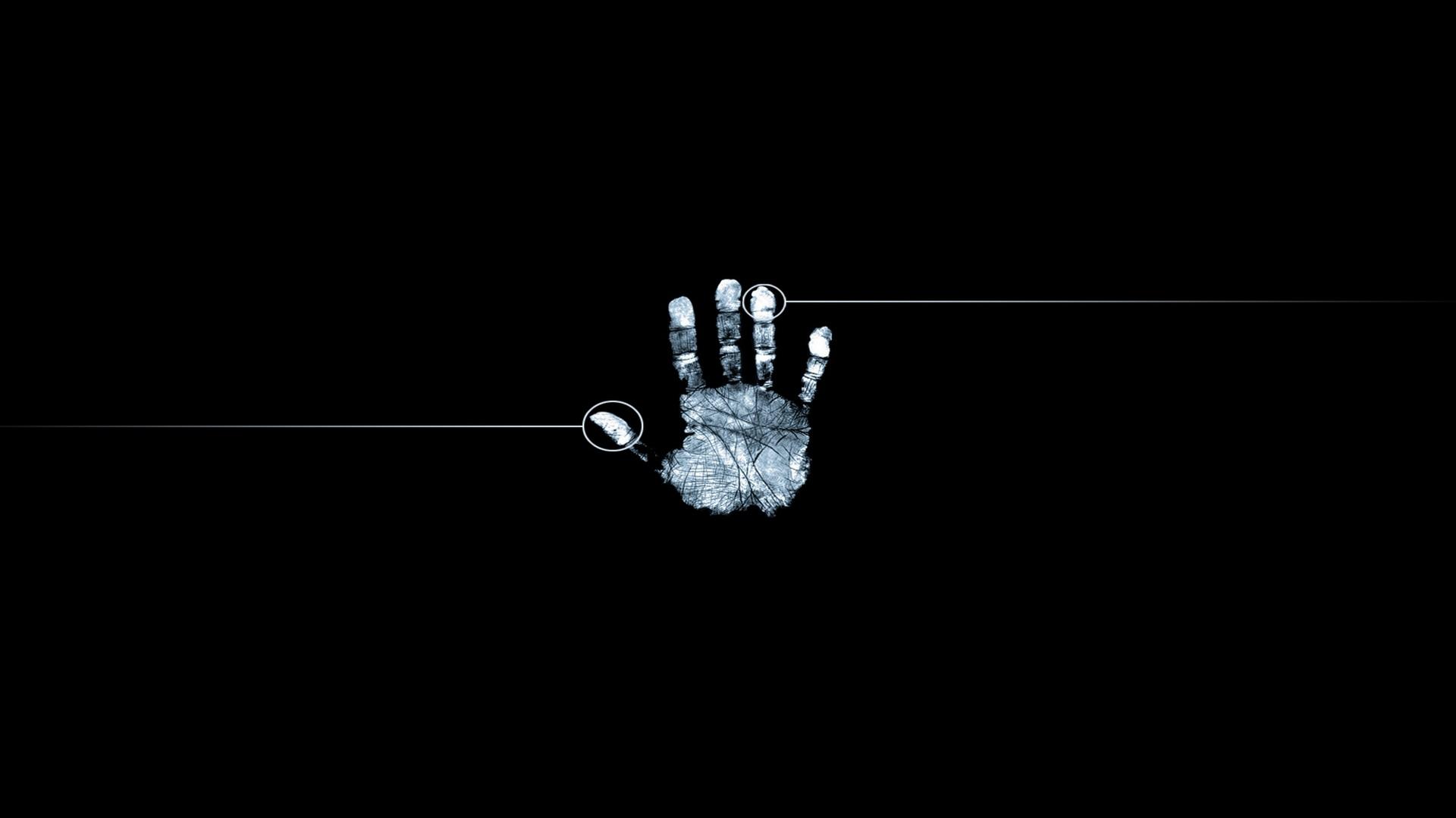 Free Download Wallpaper 1920x1080 Fingerprint Hand Black