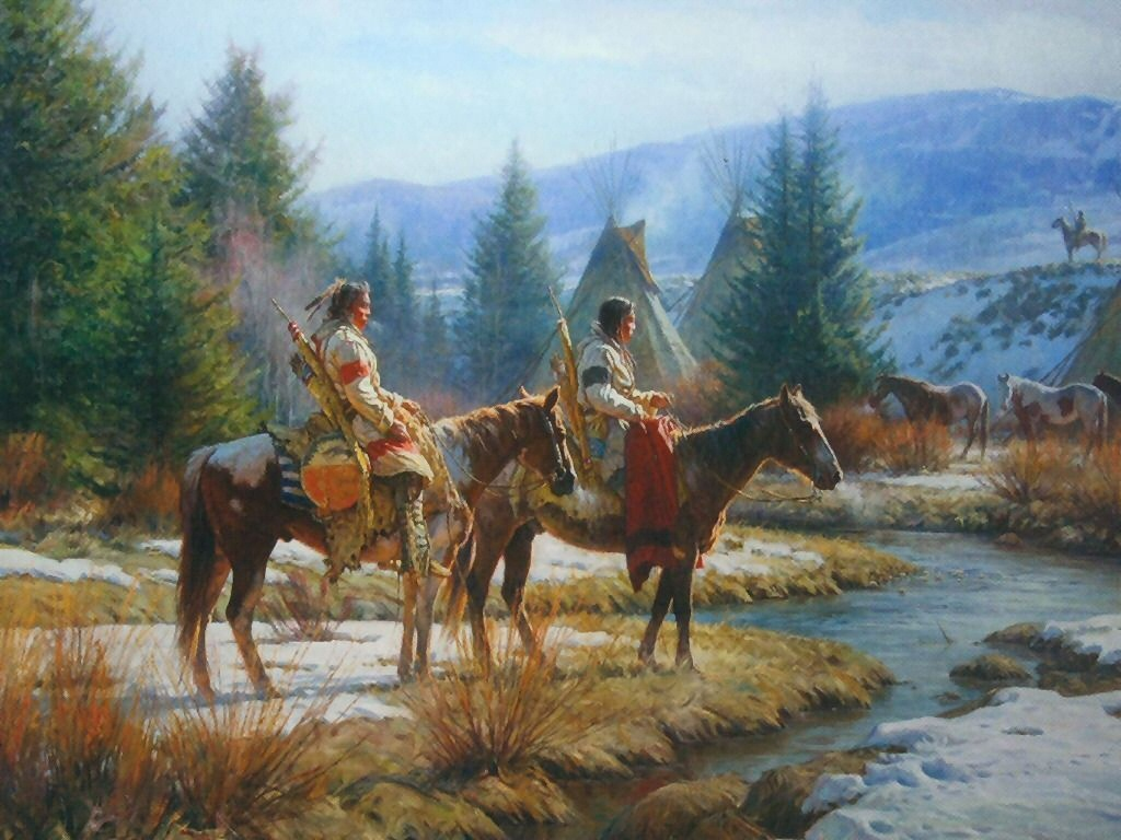 Native American Wallpapers Paintings Painting Art Print Wallpaper 1024x768