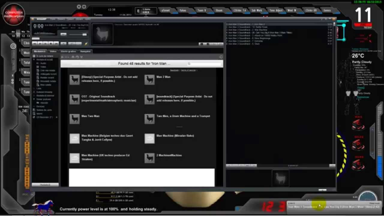 UPDATE Iron Man    Jarvis Desktop Animated Live WallpaperTheme 1280x720