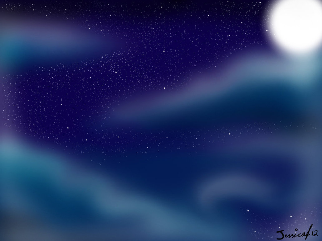 Starry Night Sky Background by Cynder18 1032x774
