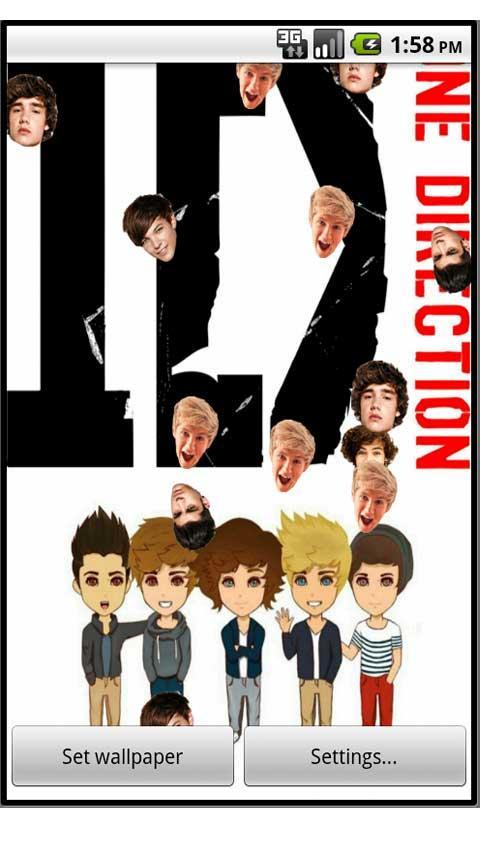 One Direction Live Wallpaper   screenshot 480x854