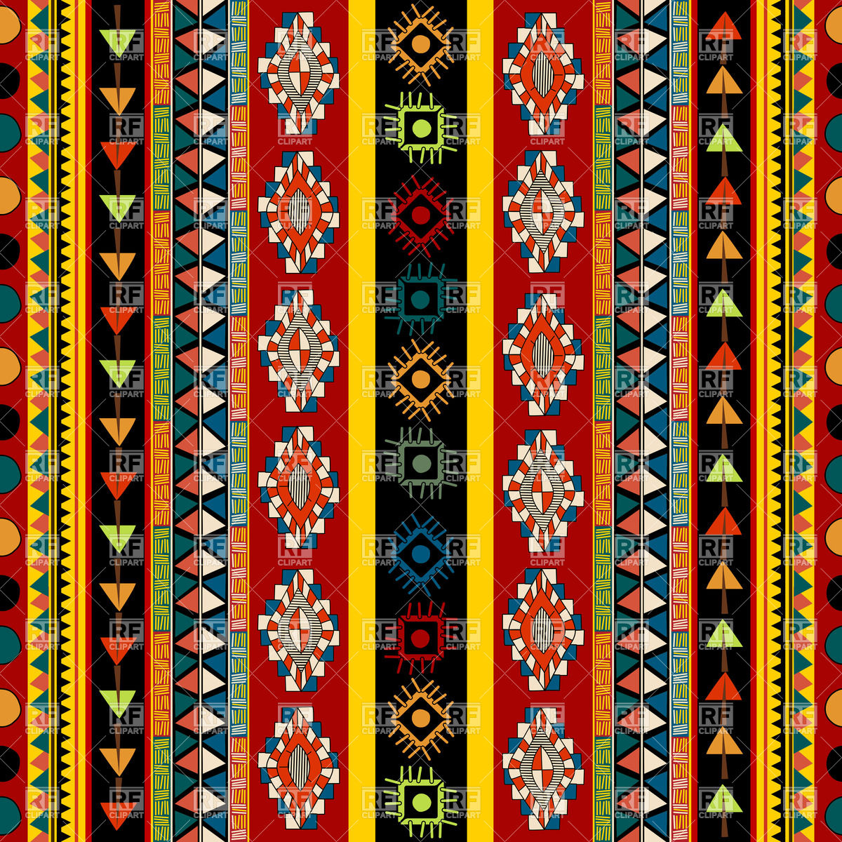 Striped ethnic pattern   seamless Mexican ornament 31804 Backgrounds 1200x1200