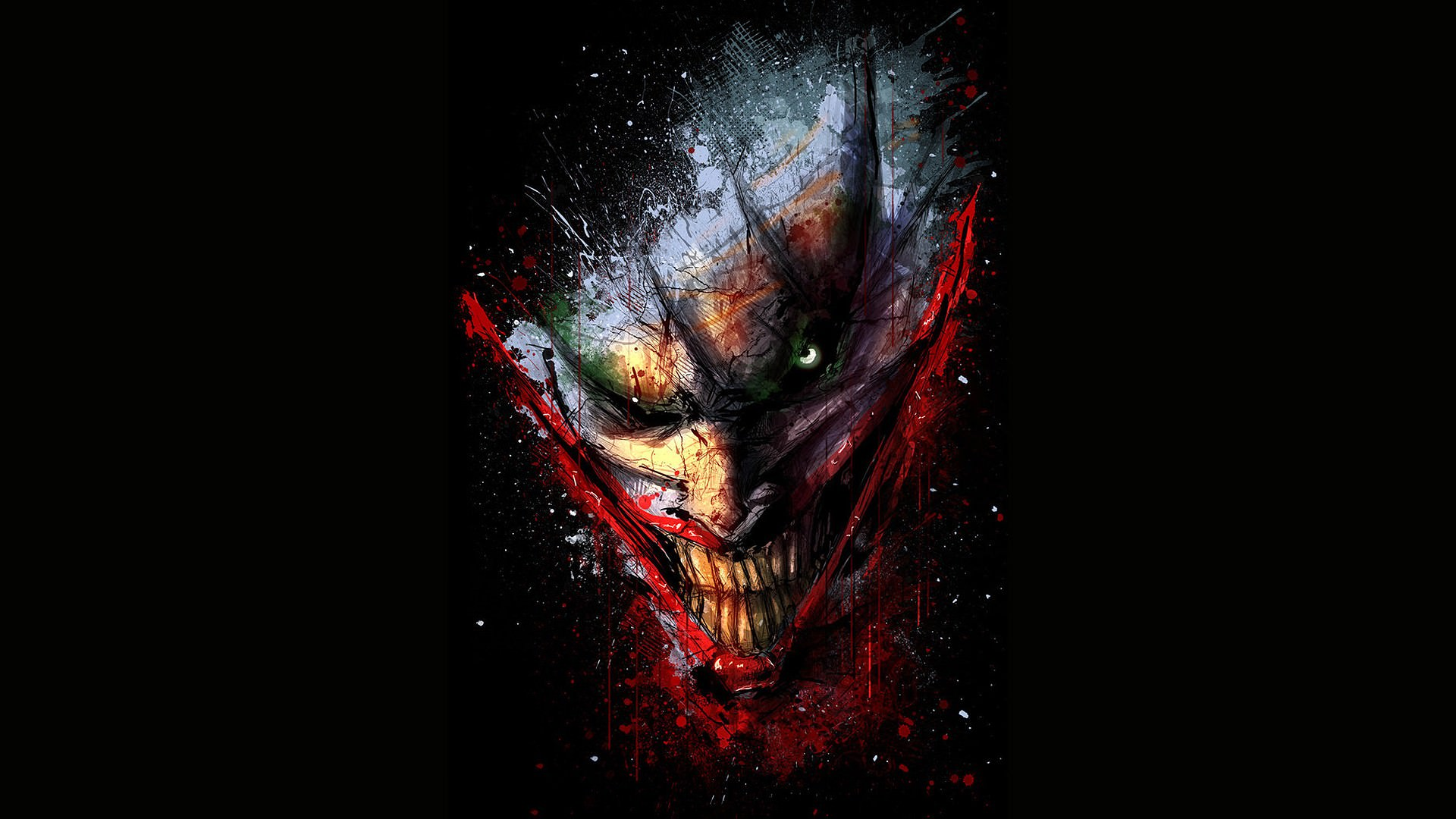 DC Comics   The Joker Wallpaper   DigitalArtio 1920x1080