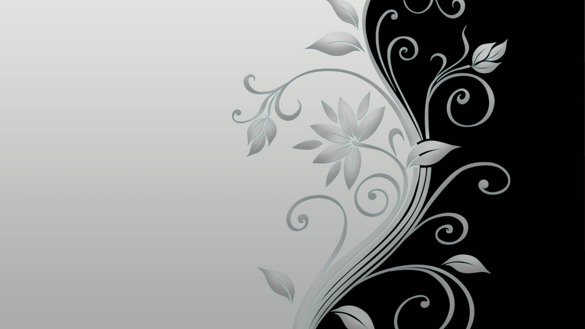 Flower Black and White HD Wallpaper Vector Flower Black and White 1920x1080