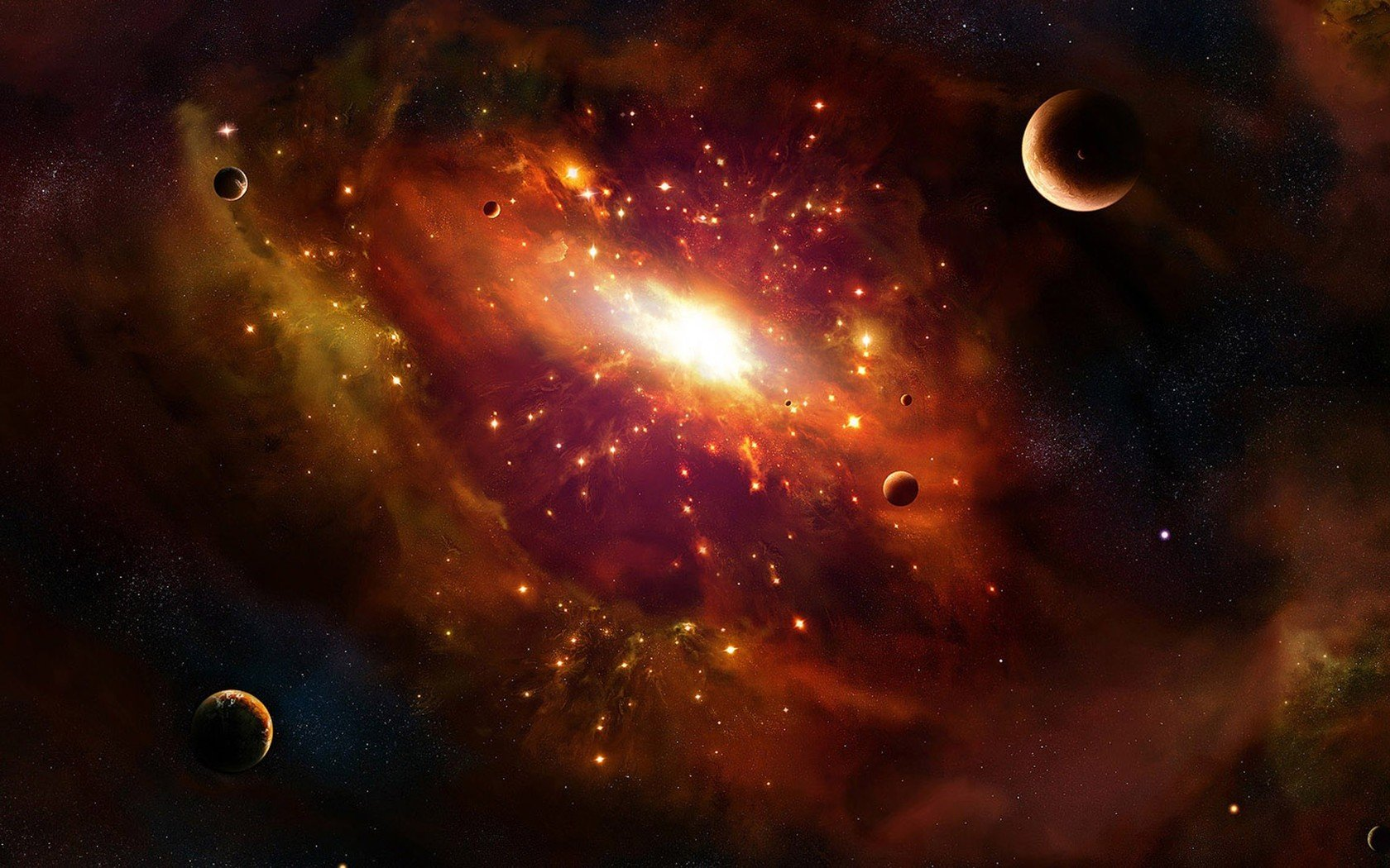 Orange galaxy wallpaper 3508 1680x1050