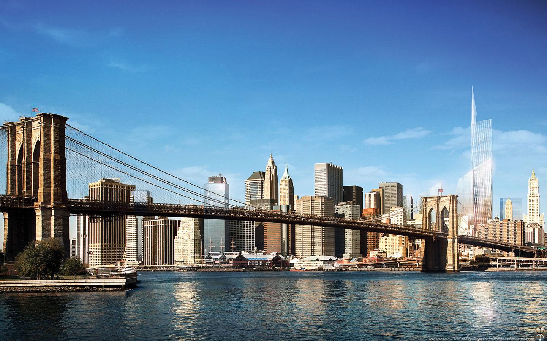 Freedom Tower Brooklyn Bridge New York Wallpaper 30 of 60 1440x900