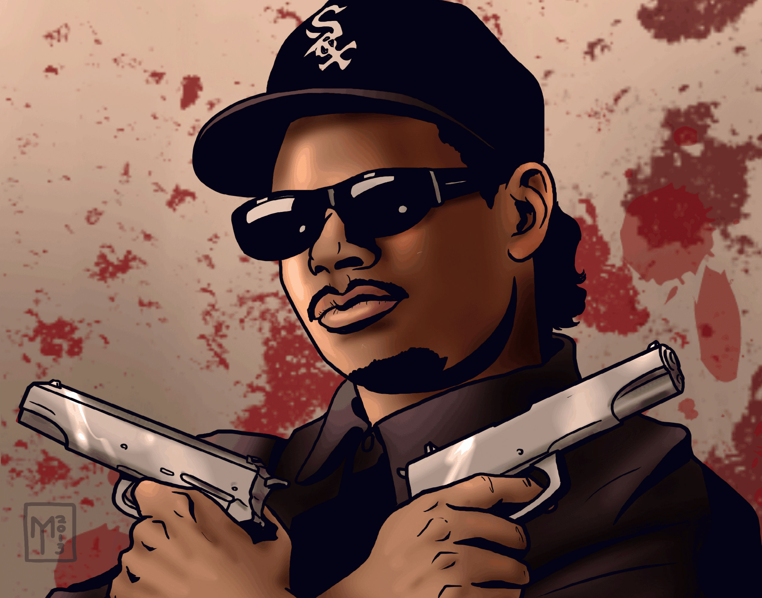 Eazy E nwa gangsta rapper rap hip hop eazy e weapon gun d wallpaper 2550x2000
