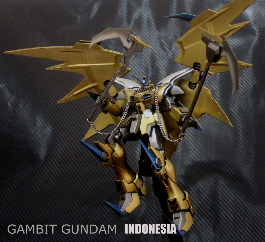 MG 1100 Gold Deathscythe Gundam Hell Custom VerGambit Gundam 1024x934