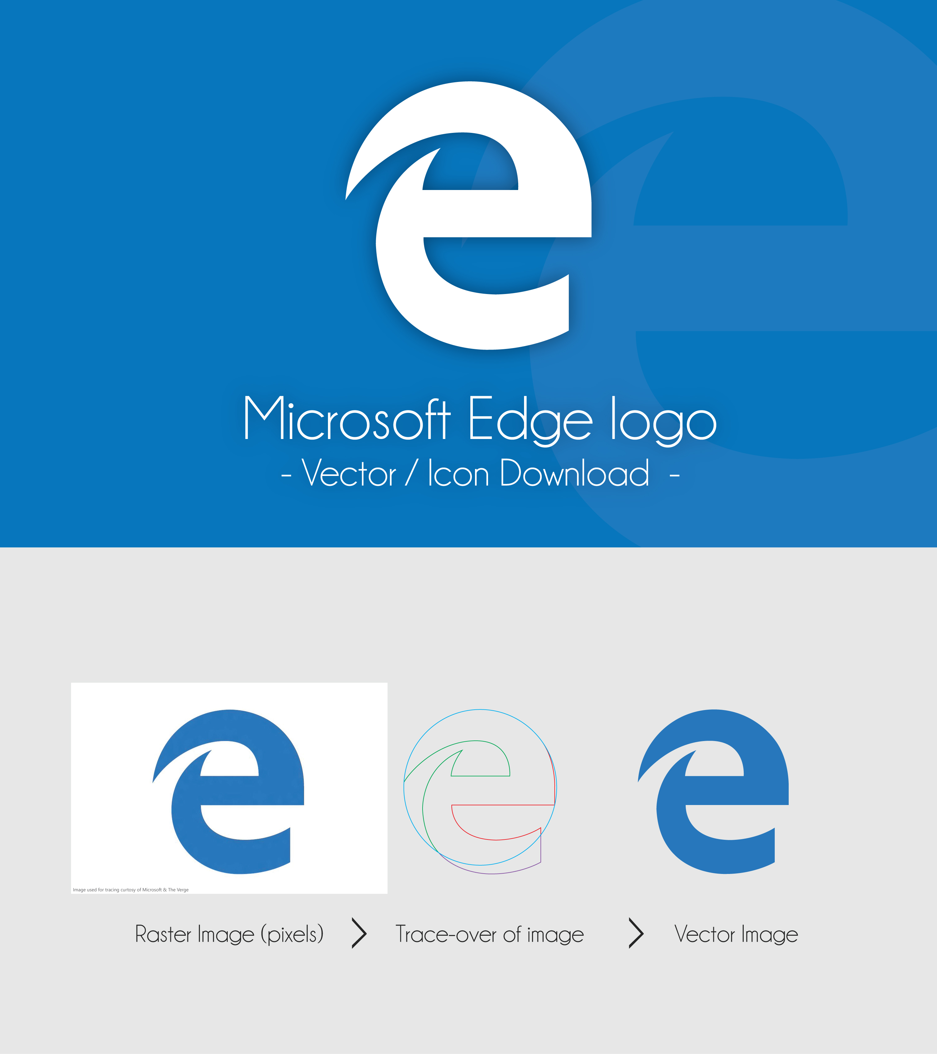 Microsoft Edge Logo   Icon and Vector Download by dAKirby309 on 3020x3395