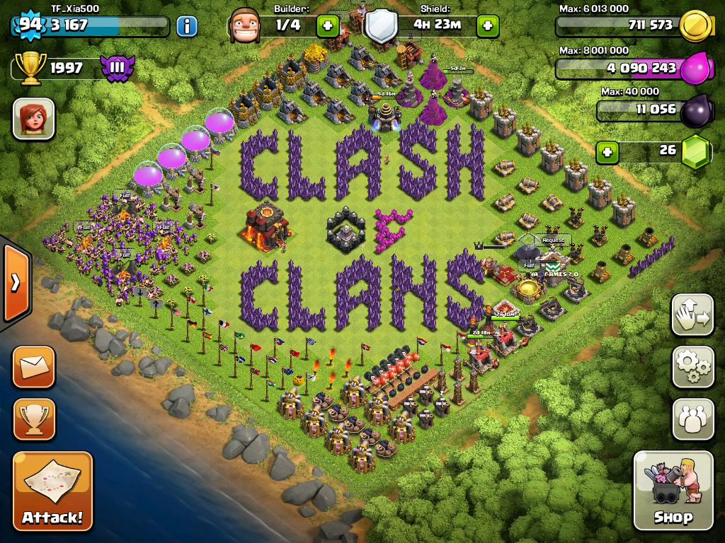 Clash Of Clans Barbarian King And Archer Queen Second entry clash of 1024x768