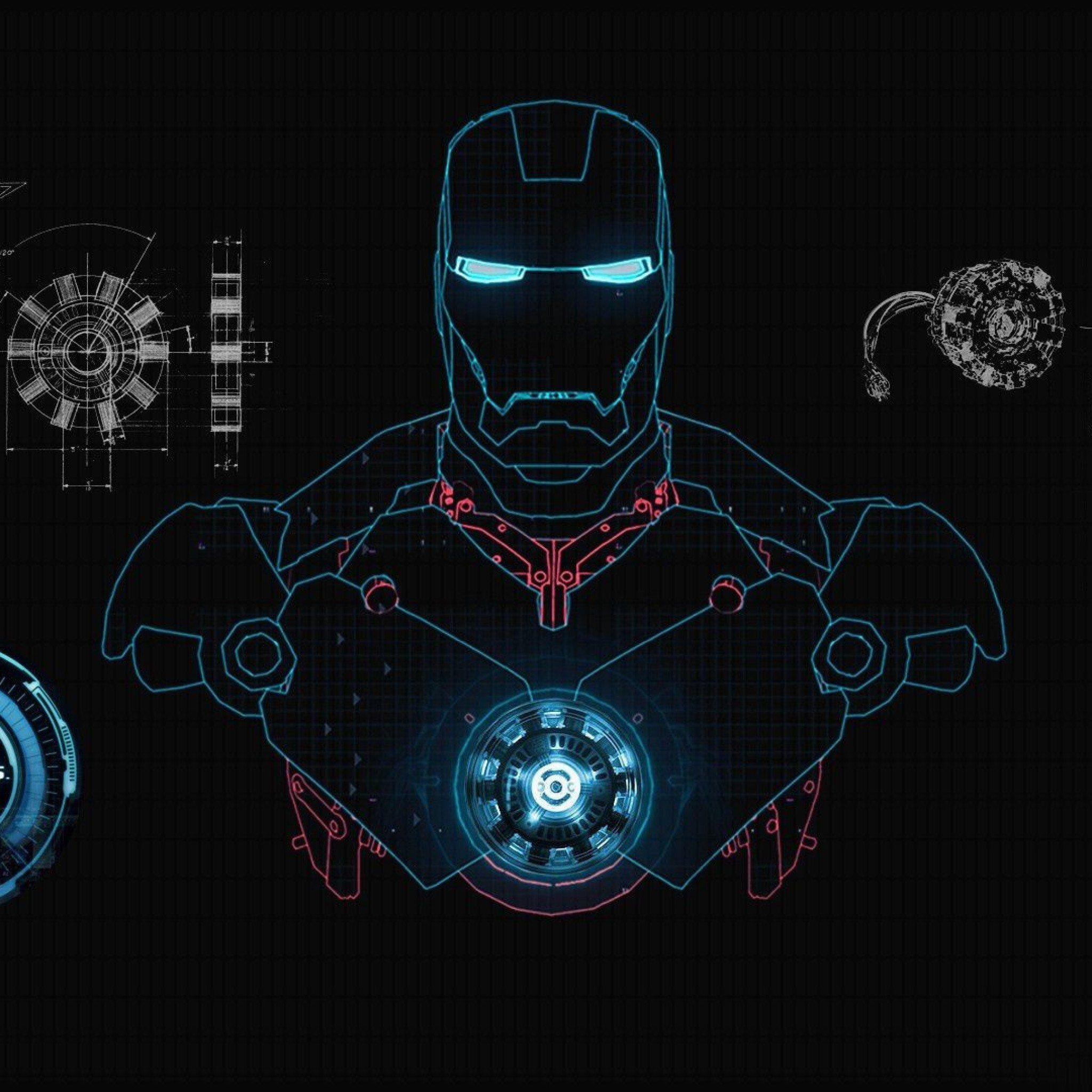 Iron Man Wallpaper Jarvis 53510 at Movies Wallpapers 1080p HD 2048x2048