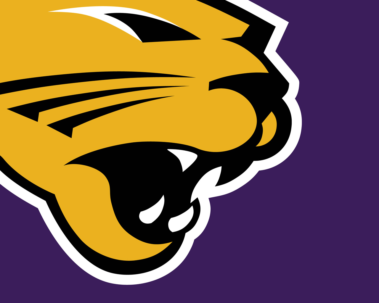 University of Northern Iowa Panthers Logo Wallpapers all monitor 1280x1024
