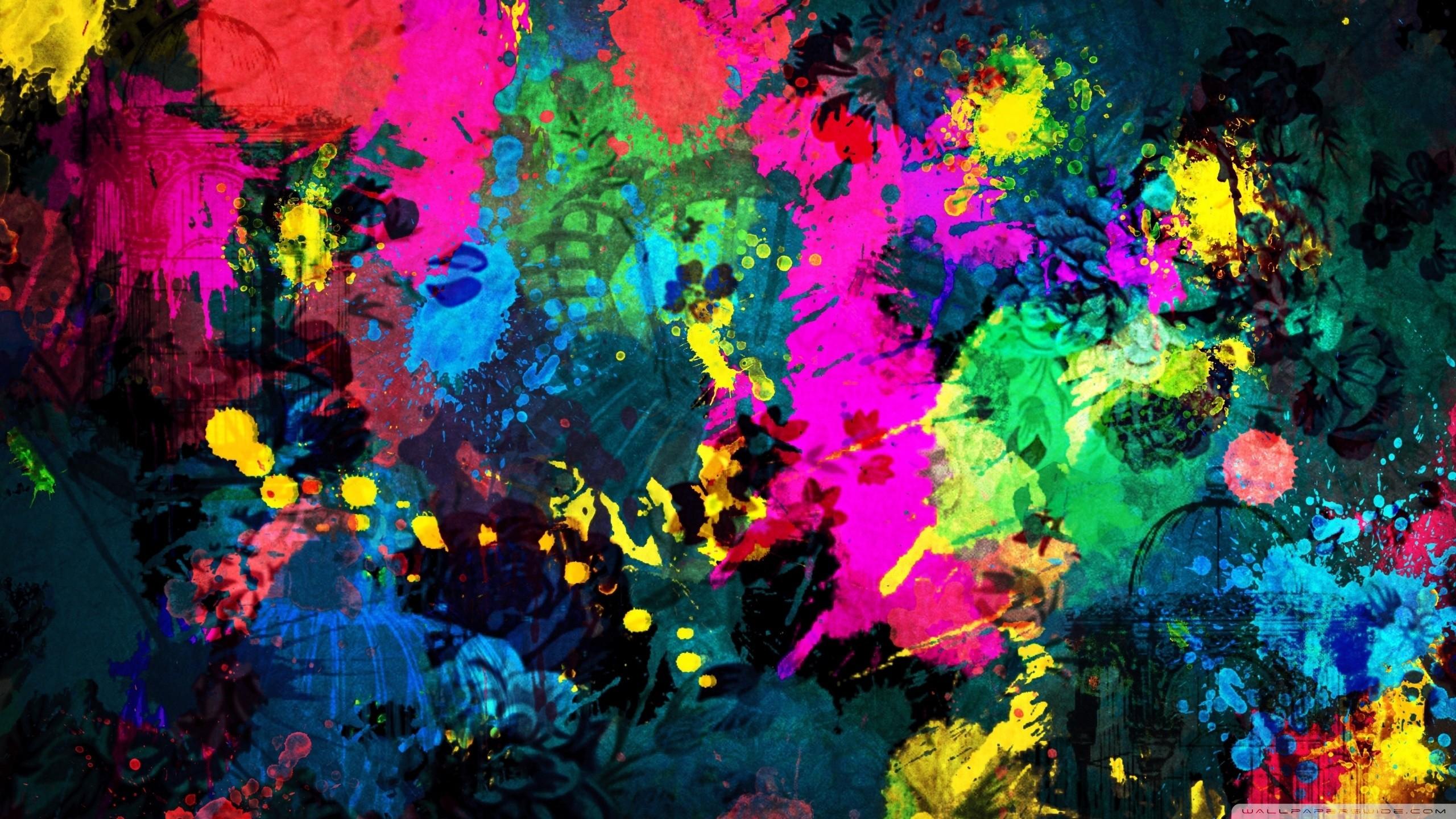 paint splatter wallpaper background 2560x1440