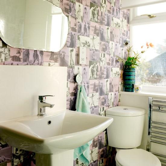 Wallpaper Bathroom PHOTO GALLERY Style at Home Housetohomeco 550x550