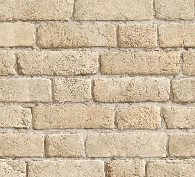 Vintage Bricks Wallpaper Buff 10M 788x713