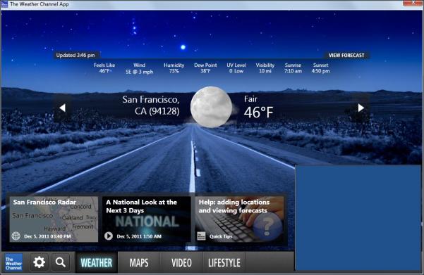 Weather Channel Desktop 601x391