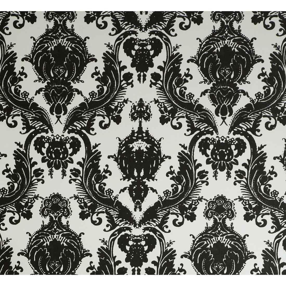 Designs Damsel Self Adhesive Black and White Temporary Wallpaper 1100x1100