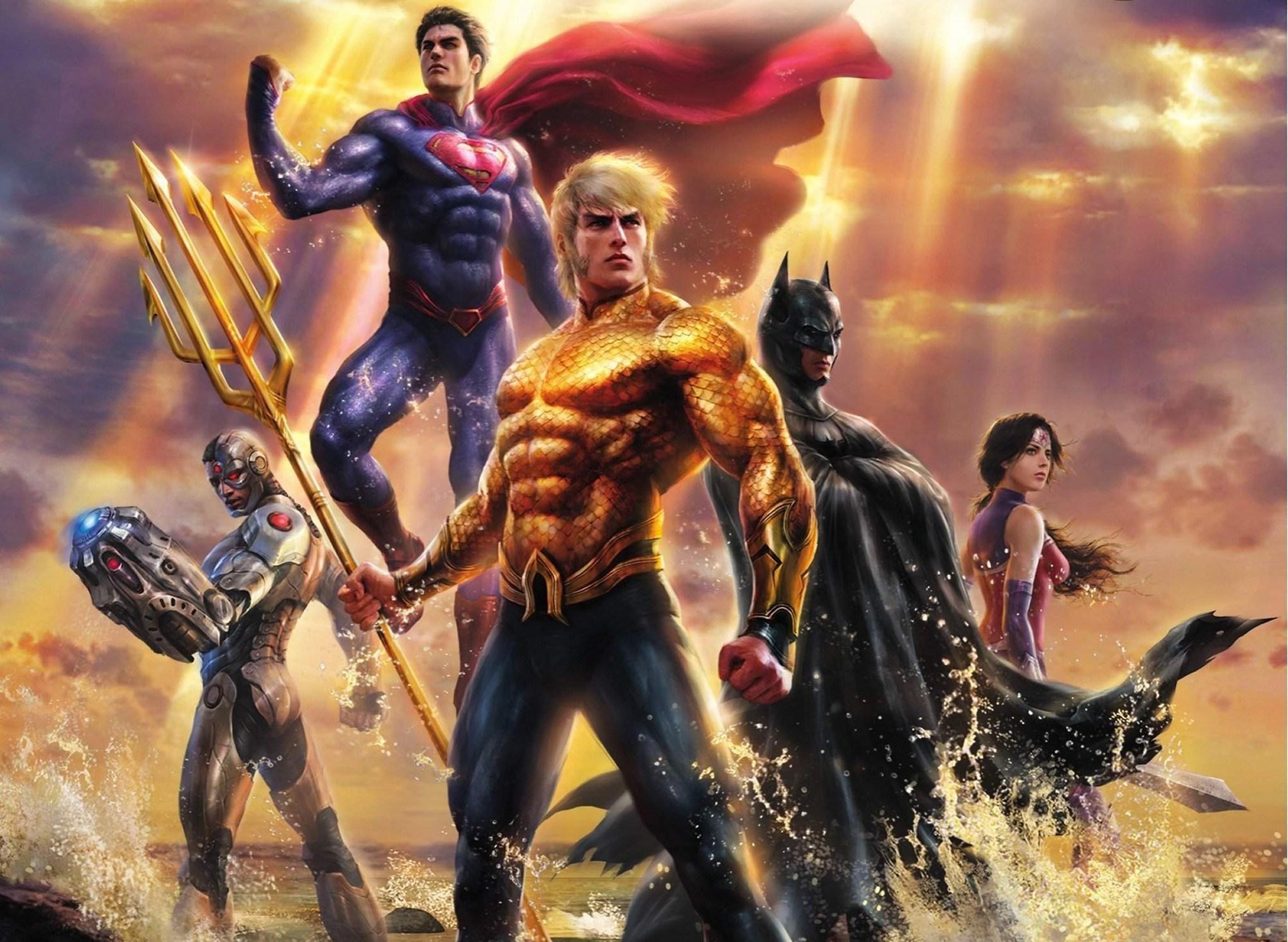 Hd wallpaper justice league - Wallpaper Justice League Throne Of Atlantis Aquaman Wonder Woman