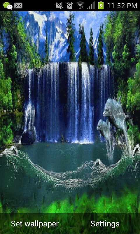 Amaging Waterfall Live Wallpaper Android Live Wallpaper download 480x800