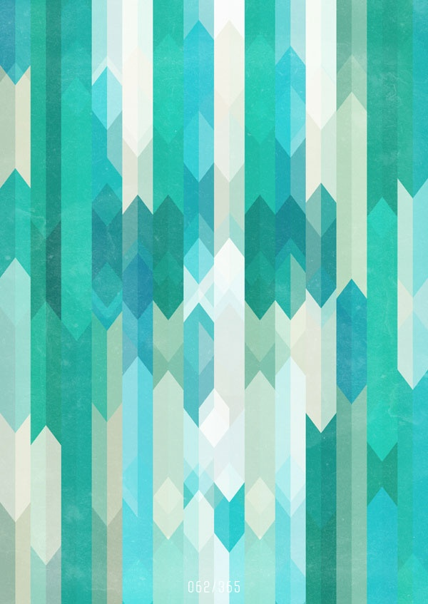 Art Patterns Inspiration Teal Lines 600x847