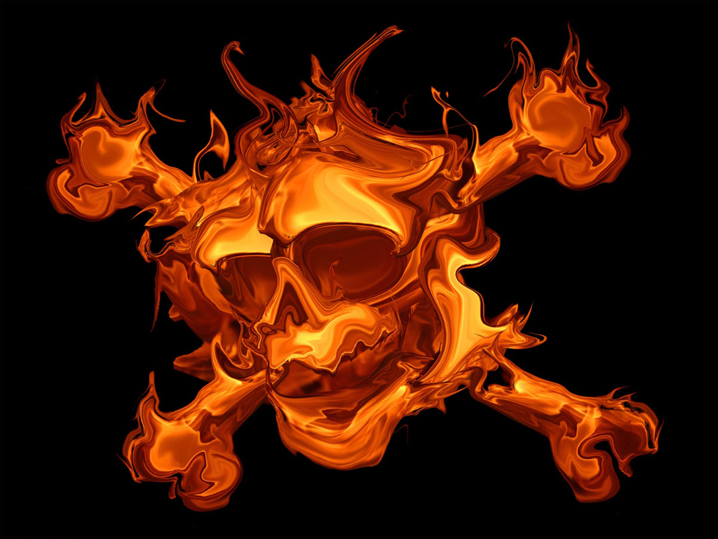 Fire skulls wallpaper wallpapersafari - Devil skull wallpaper ...