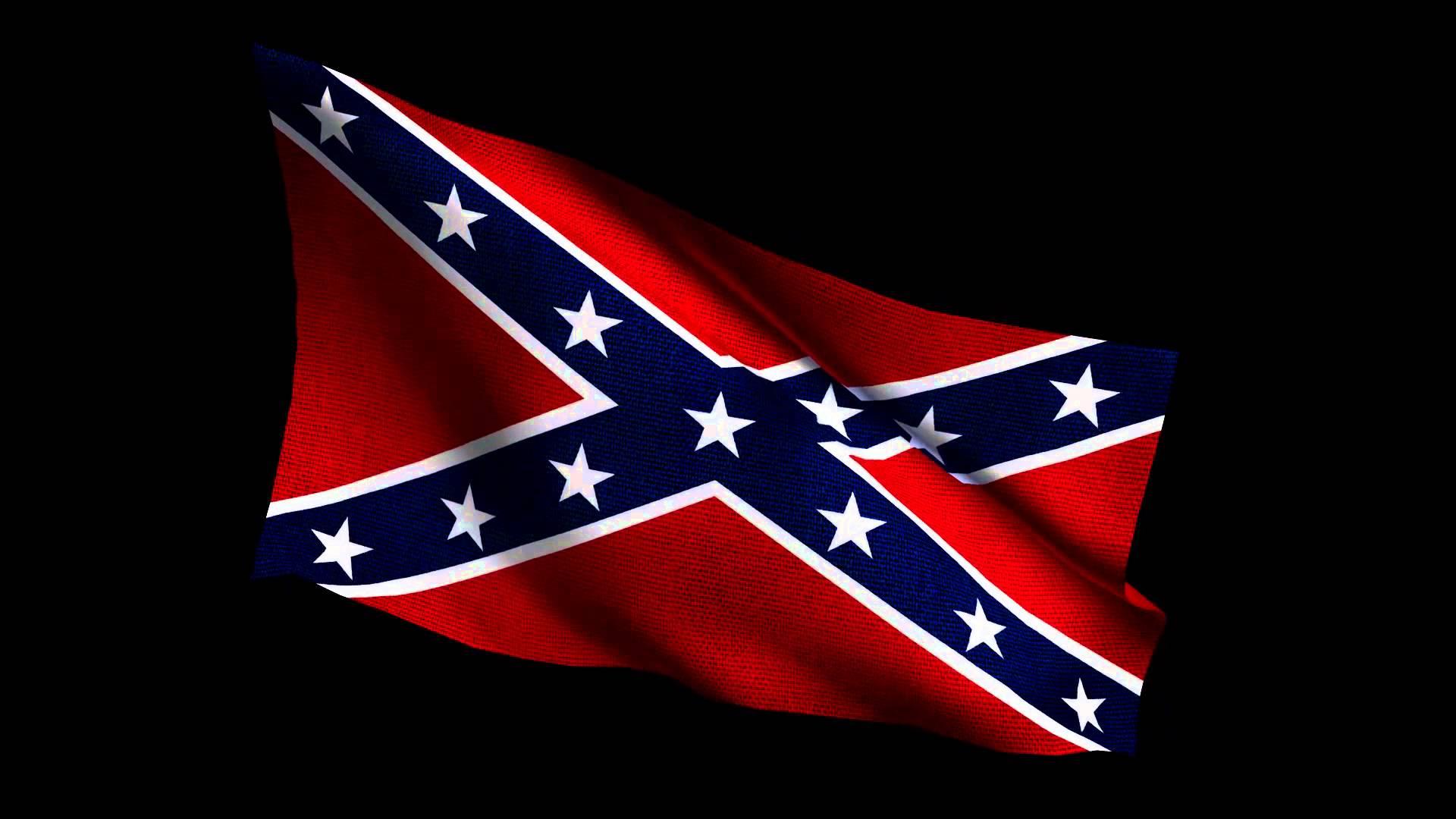 Confederate Flag waving 1920x1080p 1920x1080