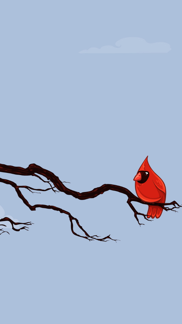 Red Cardinal Wallpaper 640x1136