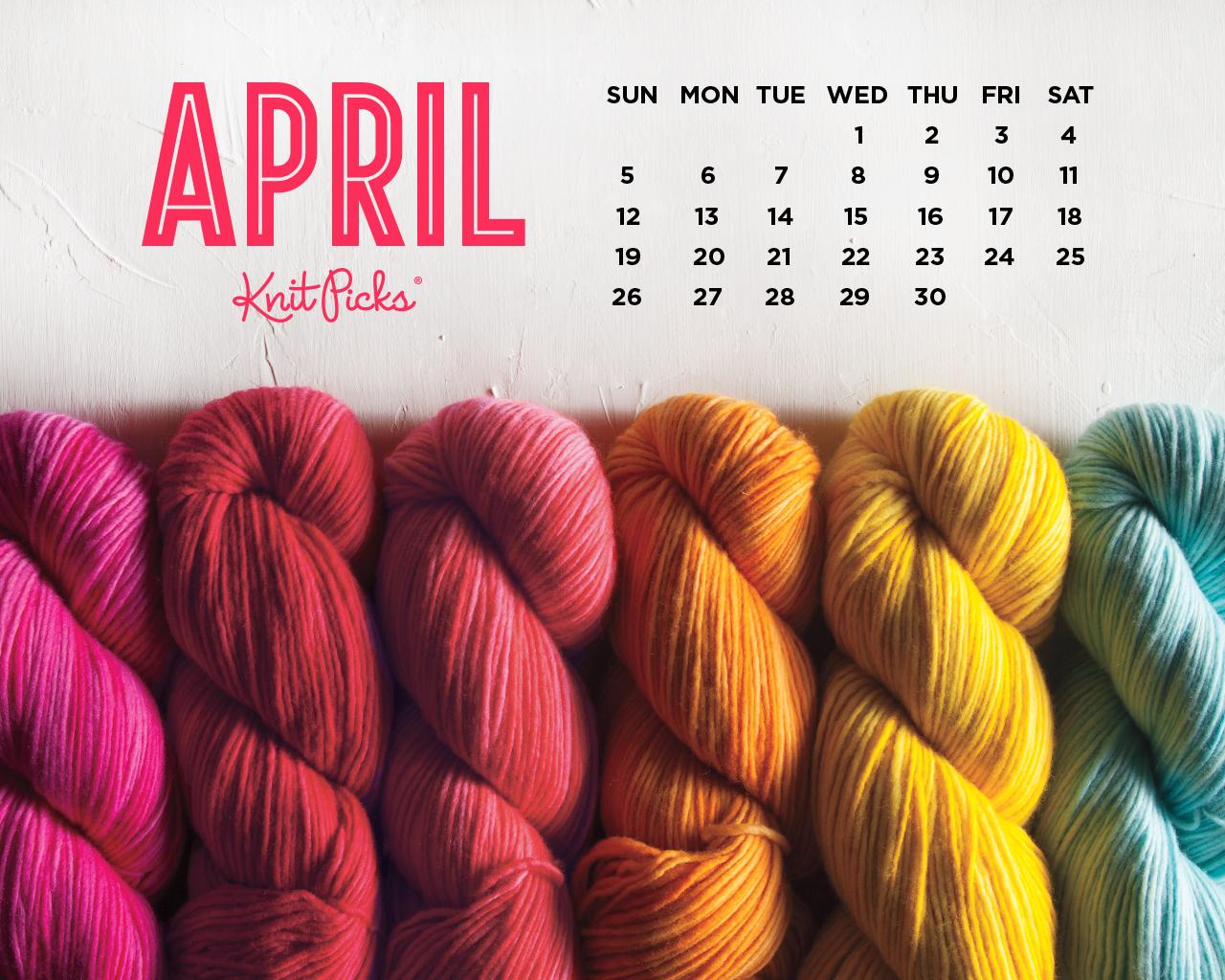April 2015 Wallpaper Calendar   KnitPicks Staff Knitting Blog 1280x1024