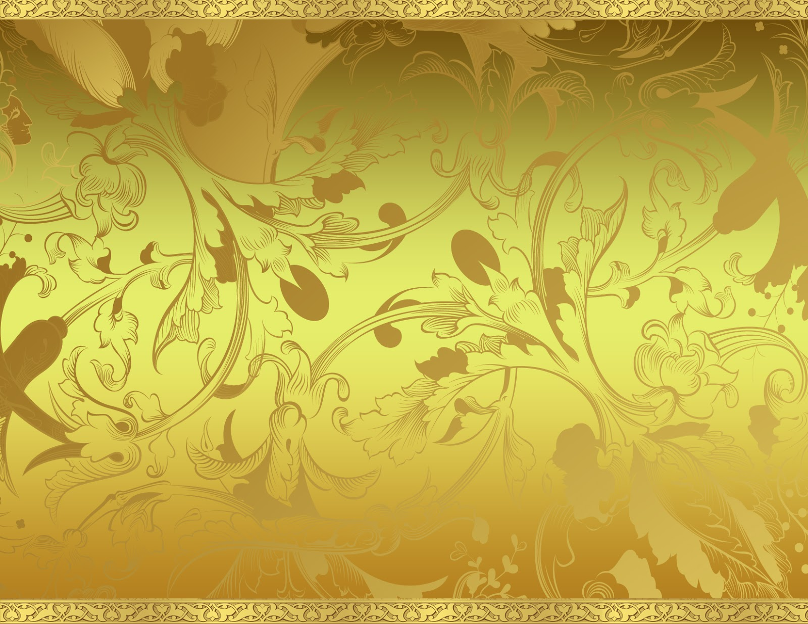 Inside a Two dimensional World Gold Floral Background 1600x1236