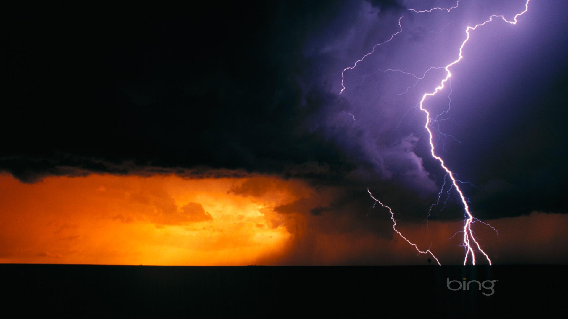 Texas the day of Lightning Bing Wallpaper Full HD Desktop Wallpaper 1920x1080