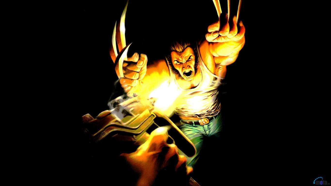 Download Wallpaper Wolverine Coyote Crossing Marvel comic book 1366x768