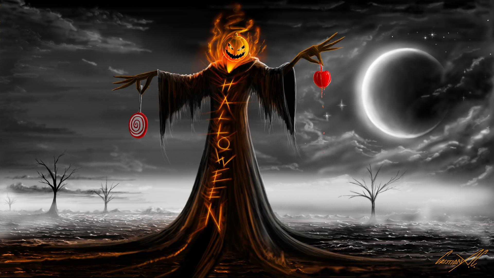 Widescreen Full HD Halloween Wallpaper
