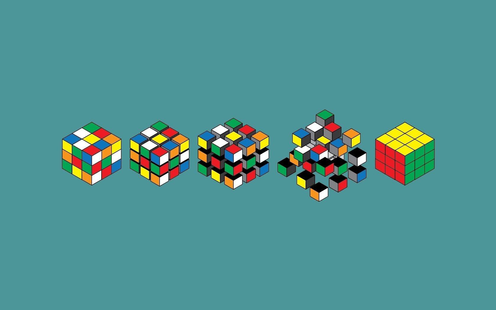 Wallpaper simple Rubiks Cube cubes desktop wallpaper 3D GoodWP 1680x1050
