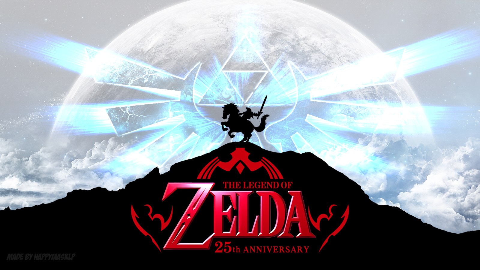 The Legend Of Zelda 25th Anniversary Wallpaper by HappyMaskLP on 1600x900