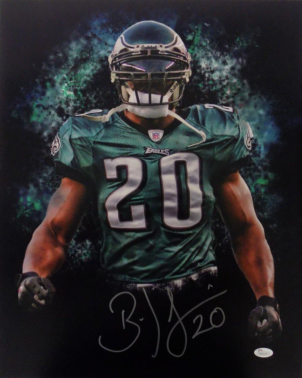 aa29cf91e4f Brian Dawkins Philadelphia Eagles Signed 16x20 Green Smoke Photo JSA  1000x1249