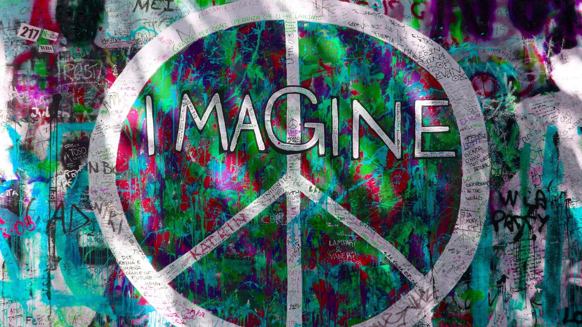 Graffiti imagine peace sign wallpaper 67810 1920x1080