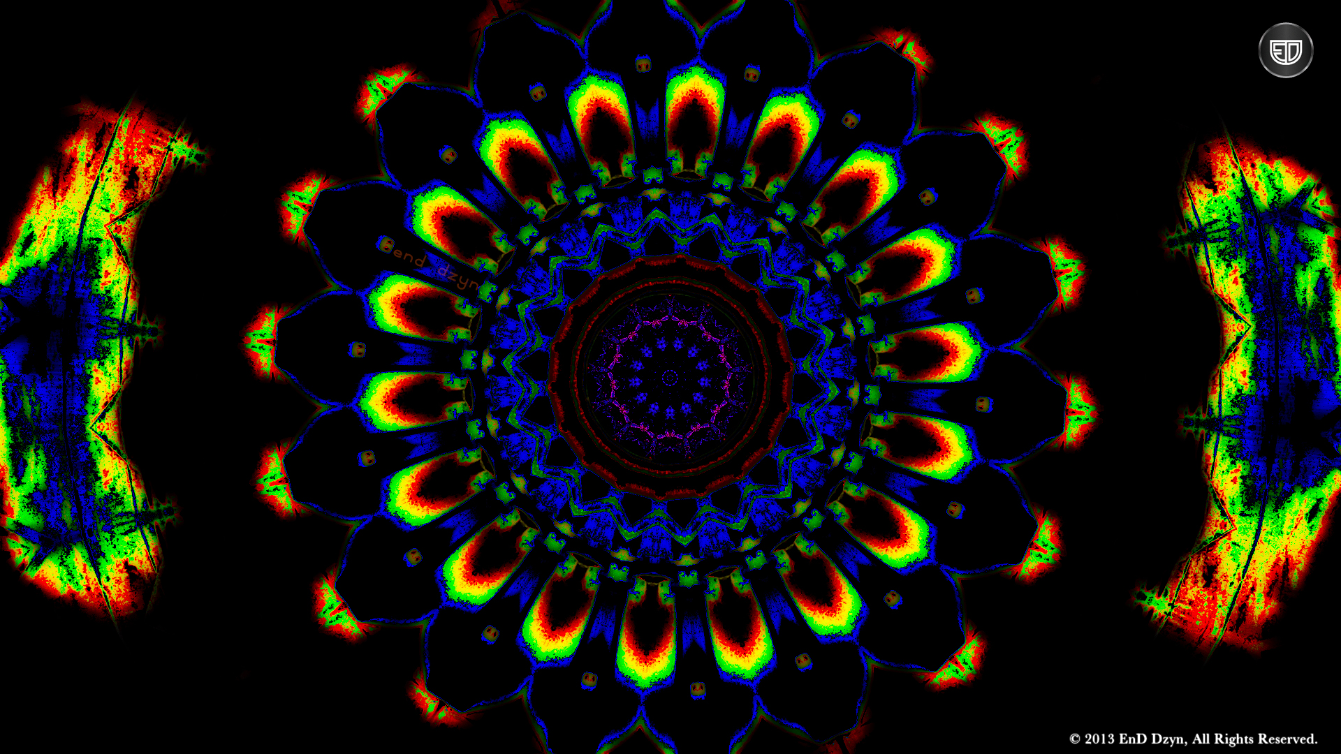 Psychedelic HD Background Wallpaper Trippy Colorful 3D 1920x1080