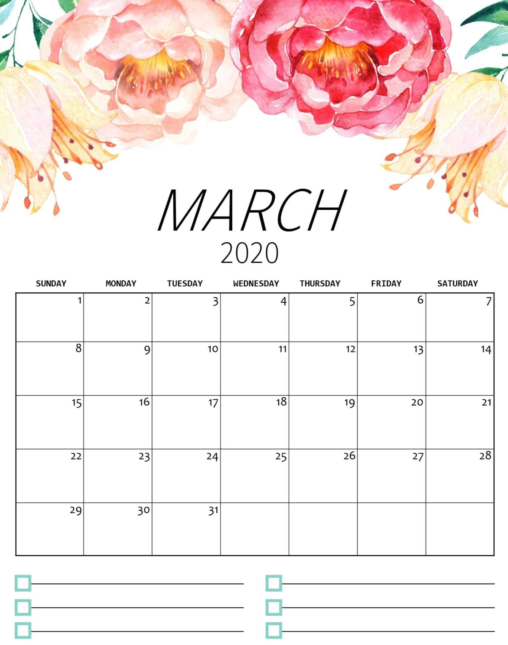 Cute March 2020 Calendar Archives   2019 Calendars for Students 1700x2159